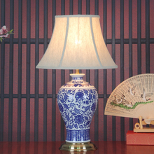 New Classical Chinese Blue And White Porcelain Led E27 Dimmiable Table Lamp For Living Room Study Bedroom Ceramic Lamp 1837