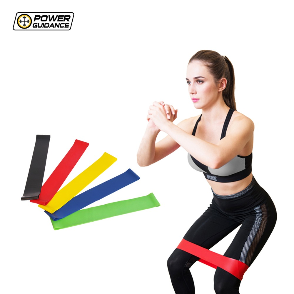 Power Guidance 5 PCS Resistance Band Set Elastic Latex Gym Strength Training Rubber Loops Bands Workout Fitness Equipment strength training
