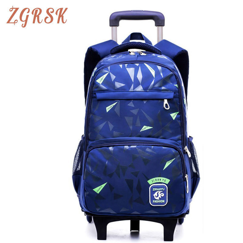 Boys Girls Backpack Waterproof Nylon Back Pack Removable For Grades 8 12 Kids Trolley Schoolbag Book Bags Children School Bags in School Bags from Luggage Bags