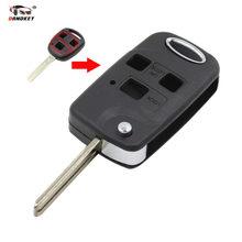 046993fcaea64 DANDKEY 3 przycisk zdalnego Składane Klapki Klucz Shell Przypadku  Samochodów Dla Lexus RX300/350/400 h SC430 GX470 LS400 GS300 E..