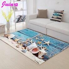 Высокие Домашние коврики для гостиной, Придверный коврик с рисунком морской звезды, морской улитки, напольный коврик для спальни, ковер для детской комнаты C106