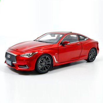 1:18 Diecast Model for Infiniti Q60 2018 Red Coupe Alloy Toy Car Miniature Collection Gift G37