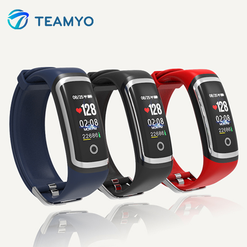 Teamyo Smart Band Heart Rate Monitor Fitness Tracker Blood Pressure Color Screen Bracelet IP67 Waterproof Watch For Android IOS