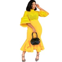 2019 African Dresses For Women African Clothes Maxi Long Dress Africa Outfit Dress Gown Elegant Lady Mermaid Robe
