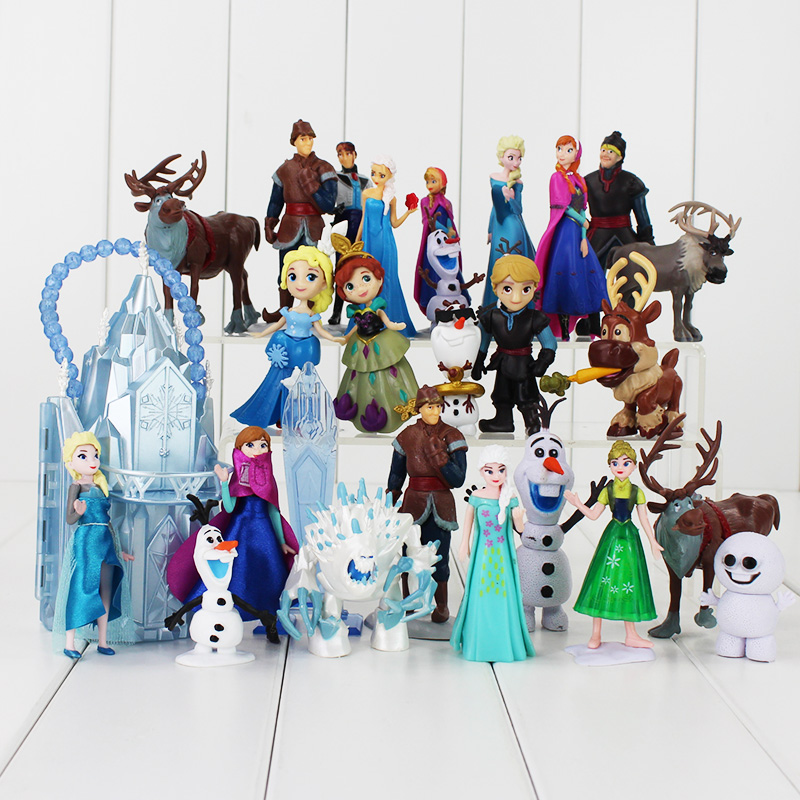 For Girl Gift My Anna Elsa Dolls New Band Little Olaf Toys -2034
