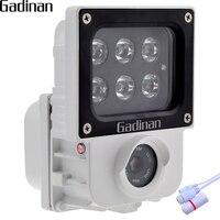 GADINAN H.265 2.0MP 1080 P Ip-kamera 6 stücke Array IR oder Weißlicht-leds Optional Cam Sicherheit CCTV ONVIF Wasserdicht XMEye