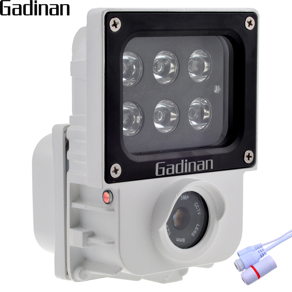 GADINAN H.265 2.0MP 1080 p IP Caméra 6 pcs Rangée IR ou Blanc Lumière Led En Option Came Extérieure de Sécurité CCTV ONVIF Étanche XMEye