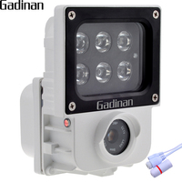 GADINAN H.265 2.0MP 1080 P IP Camera 6 cái Mảng IR hoặc White Light Leds Tùy Chọn Ngoài Trời Cam An Ninh CCTV ONVIF Không Thấm Nước XMEye