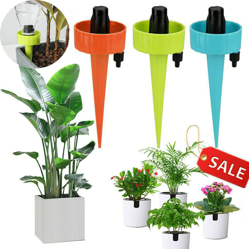 6Pcs 12pcs Mixed color Automatic Irrigation Device Drip Water Spikes Flower Plant Watering Tools 2019 Newest