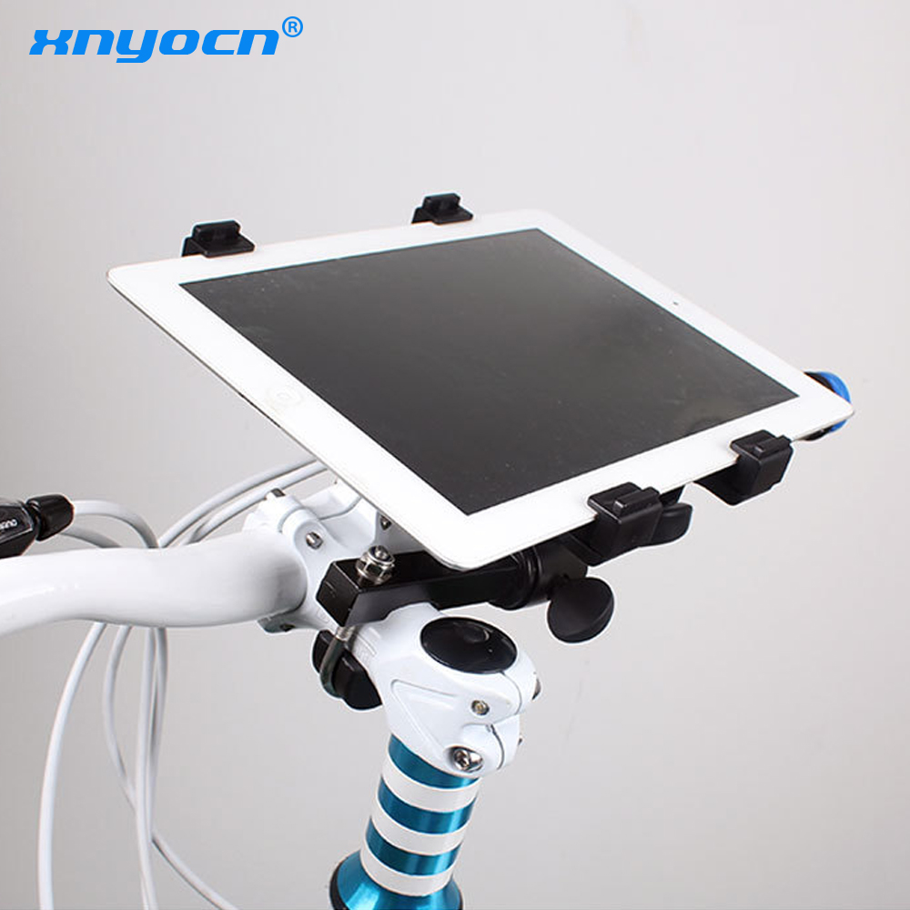 Mount Holder For Ipad Mini 2 3 4 Universal Aluminum Alloy Bicycle Motorcycle GPS LG Tablet Pc For Samsung T230 T280 Asus Acer