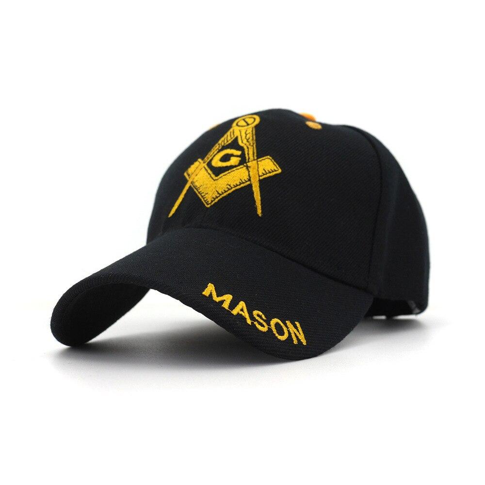 Black   Cap   Mason Embroidery   Baseball     Cap   Snapback   Caps   Casquette Hats Fitted Casual Gorras Patriot   Cap   For Men Women