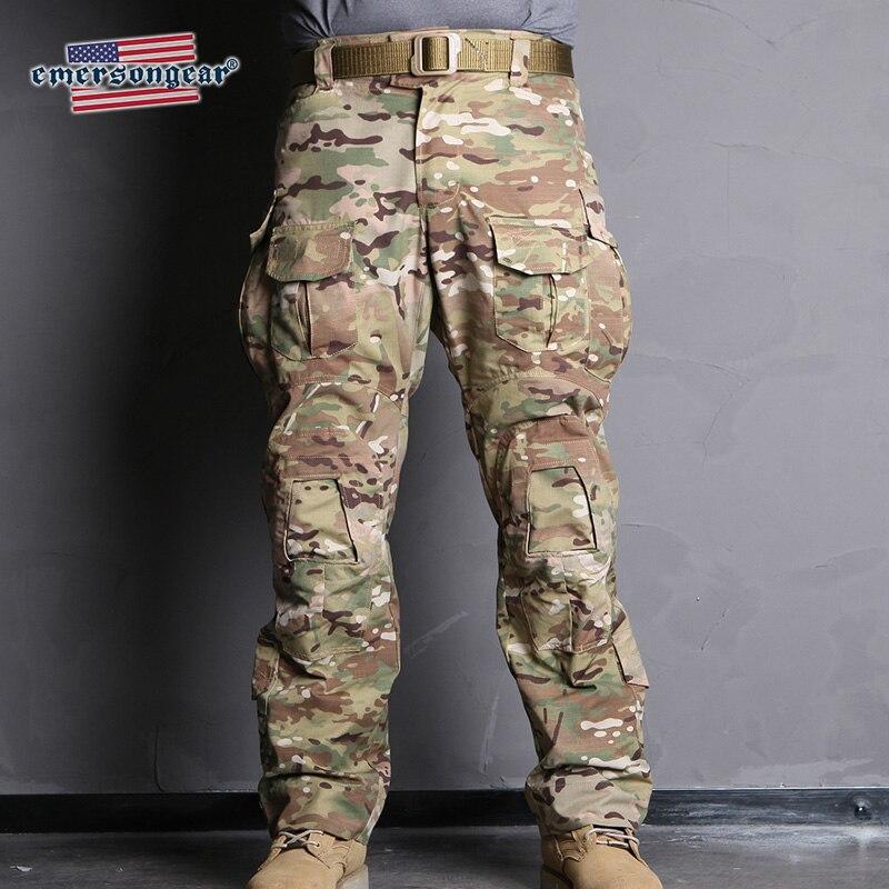 Emersongear Emerson Blue Label G3 Camo Combat Брюки тактические брюки для Для мужчин с наколенниками Multicam 5 видов цветов