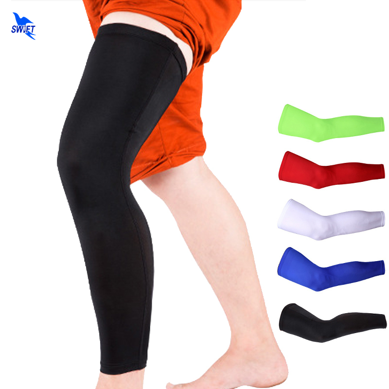 2pcslot Recovery Compression Leg Sleeve Sport Safety Soccer Basketball Cycling Elastic Long Knee Support Pads Protect Legwarmer