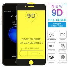 9D Full Glue Curved Tempered Glass For iPhone 8 7 Plus Screen Protector 6 6s Protective Film