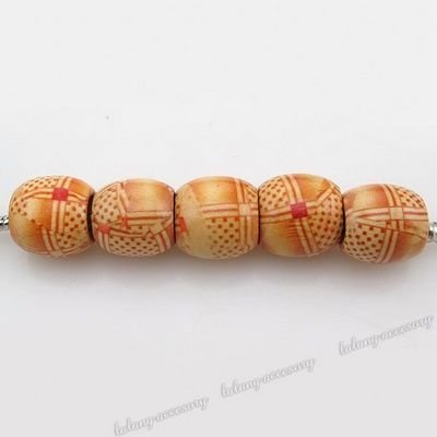 Light Orange Color 180pcs Big Hole Round Wooden Beads for Jewerly accessory Fit Bracelet DIY 150662