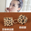 2014 Korean jewelry wholesale fashion exquisite Czech drill five leaves and flowers earrings XY-E652