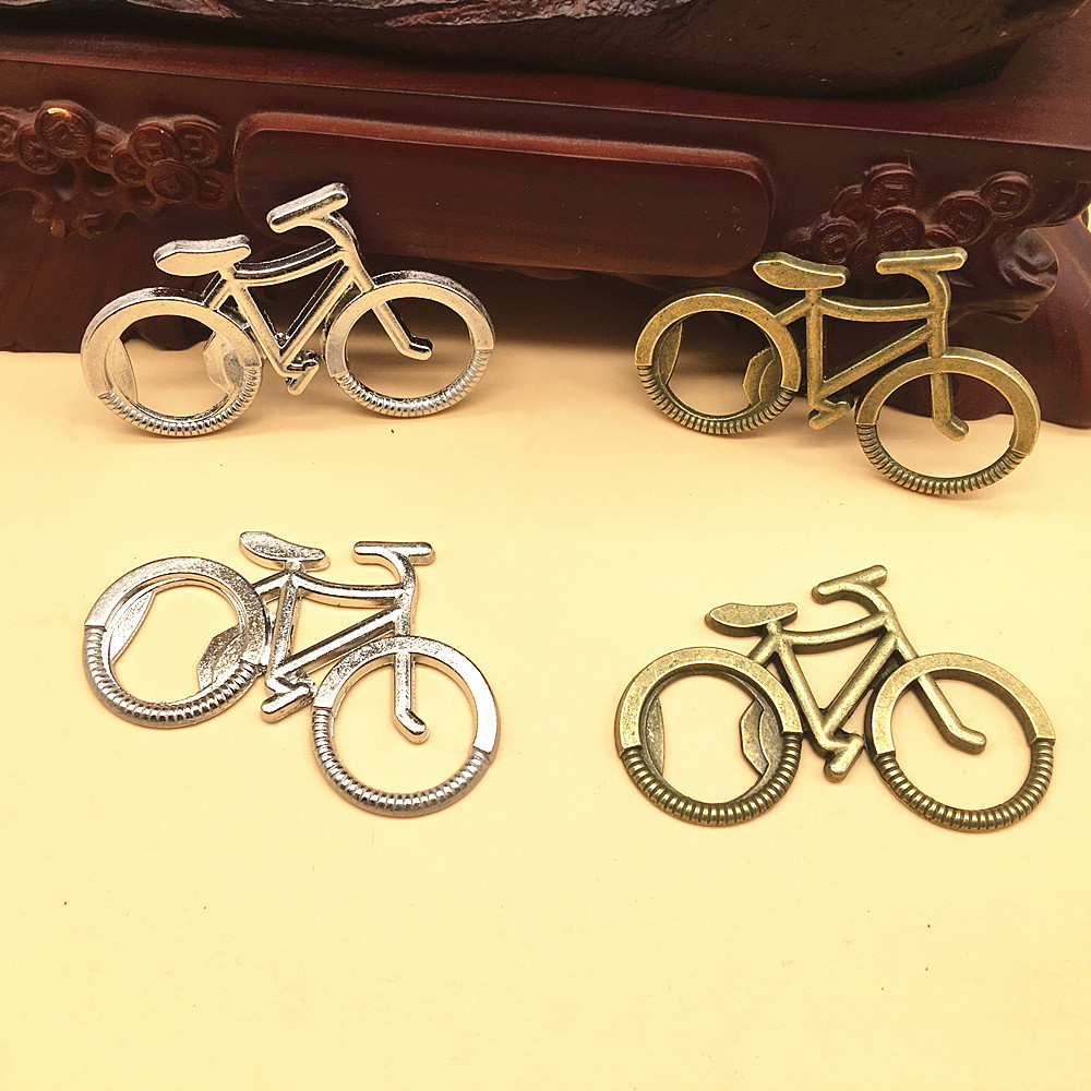 1 Pcs Metal Beer Bottle Opener Cute Bike Bicycle Keychain Key Rings For Lover Biker Bottle Openers Creative Gift For Cycling