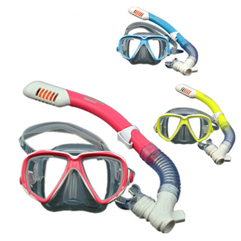 KEEP DIVING Kids Diving Masks Snorkel Tempered Glass Snorkeling Full Dry Snorkel Tube Scuba Diving Equipment Snorkel Goggles Kid