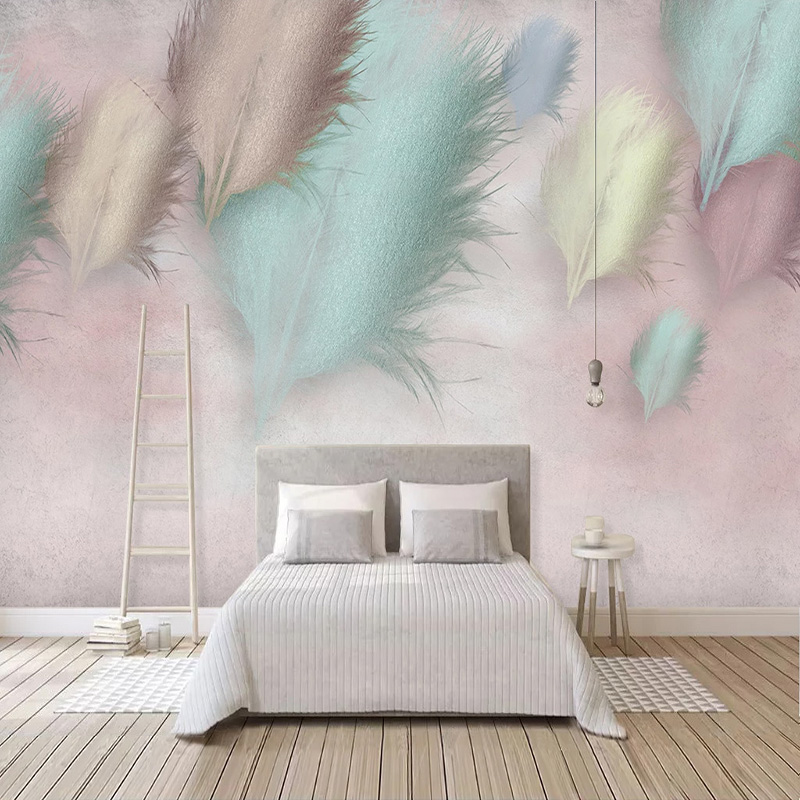 Custom Photo Wallpaper 3D Fashion Feather Modern Mural Living Room Bedroom Romantic Home Decor Wall Papers Papel De Parede  3 D