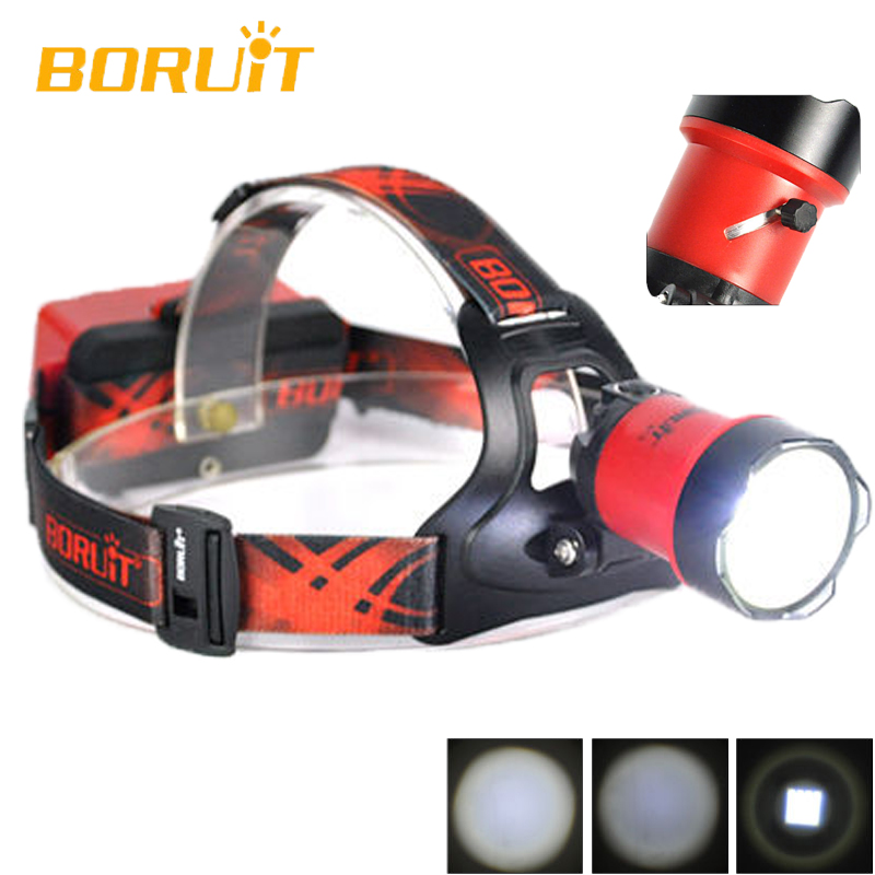 BORUiT B13 Cree XM-L2 LED Headlamp Rechargeable Camping Headlight Lamp Torch Rechargeable Linterna Frontal Red Head Light zk40 cree xm l t6 led headlamp 3800lm zoomable head light waterproof head torch headlight torch lanterna rechargeable head light