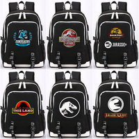 2018 Jurassic Dinosaurs Skull USB Headphone Jack Boy Girl School bag Women Bagpack Teenagers Canvas Men Backpack Packsack