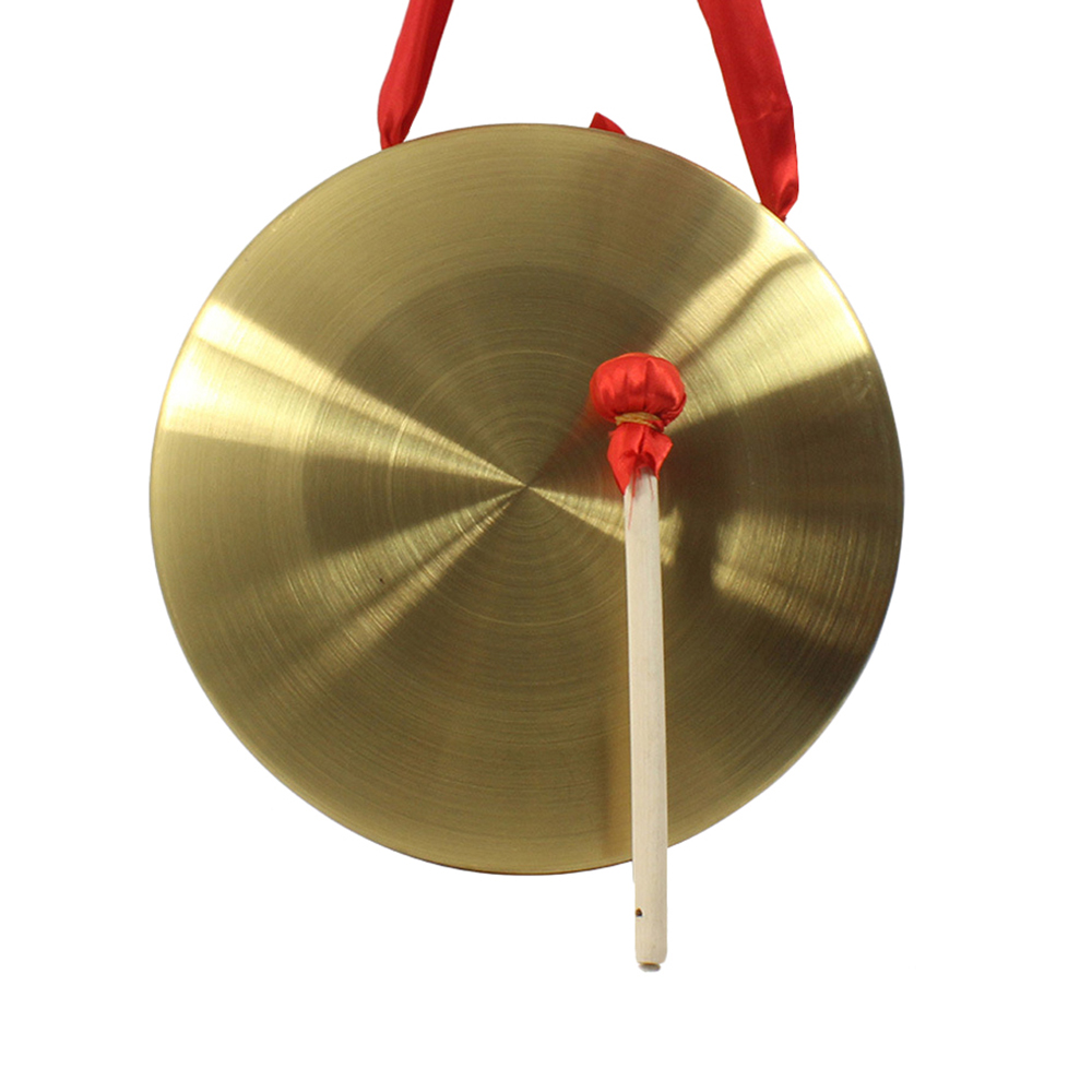 High Quality 22cm Hand Gong Brass Copper Chapel Opera Percussion Without Round Play Hammer