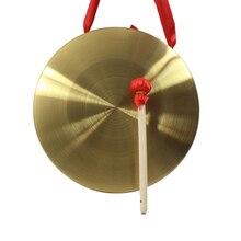 Высокое качество 22 см ручной Гонг латунь медь Часовня опера перкуссия без круглый игровой молот