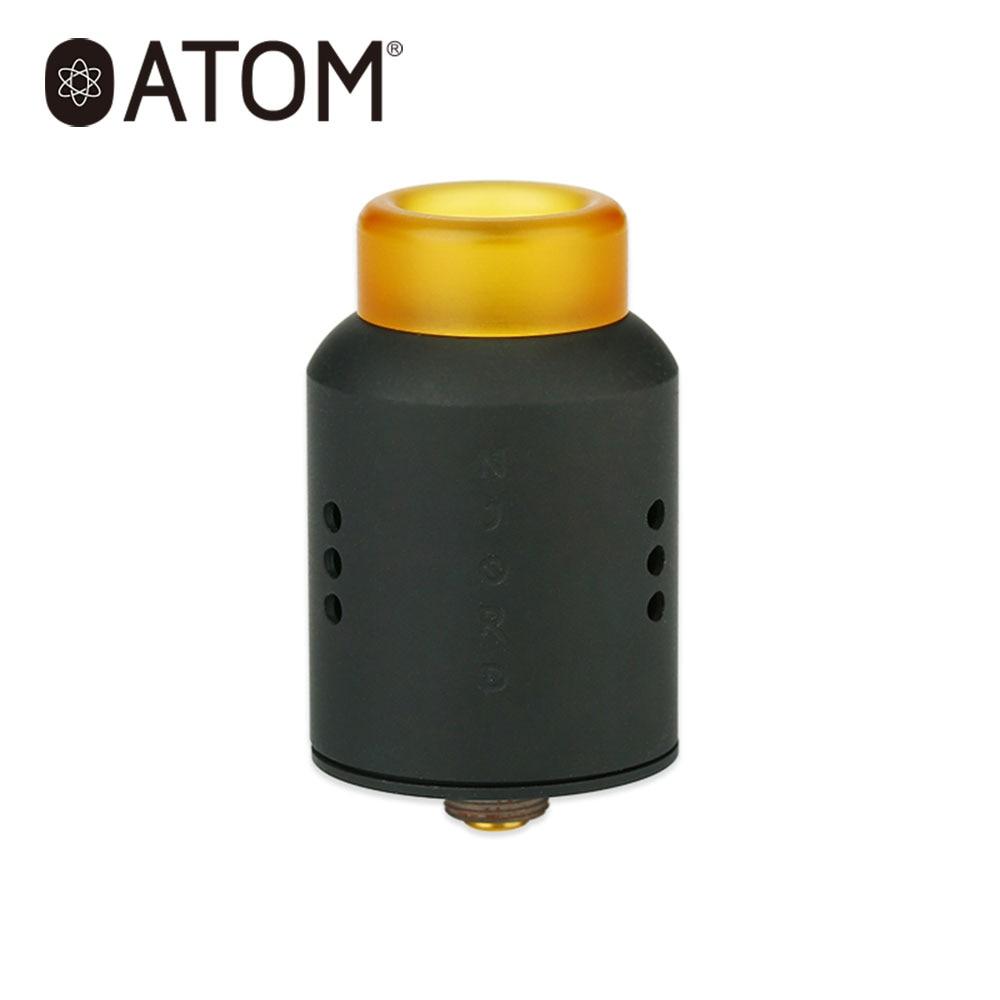D'origine AtomVapes Njord RDA Atomiseur 24mm Single Coil RDA Réservoir avec deux Postes Construire Pont Costume Sandman Mech MOD e-cig Vaporisateur Réservoir