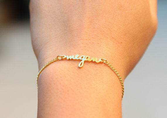 Customized Personalized Dainty Name Bracelet Children Charm
