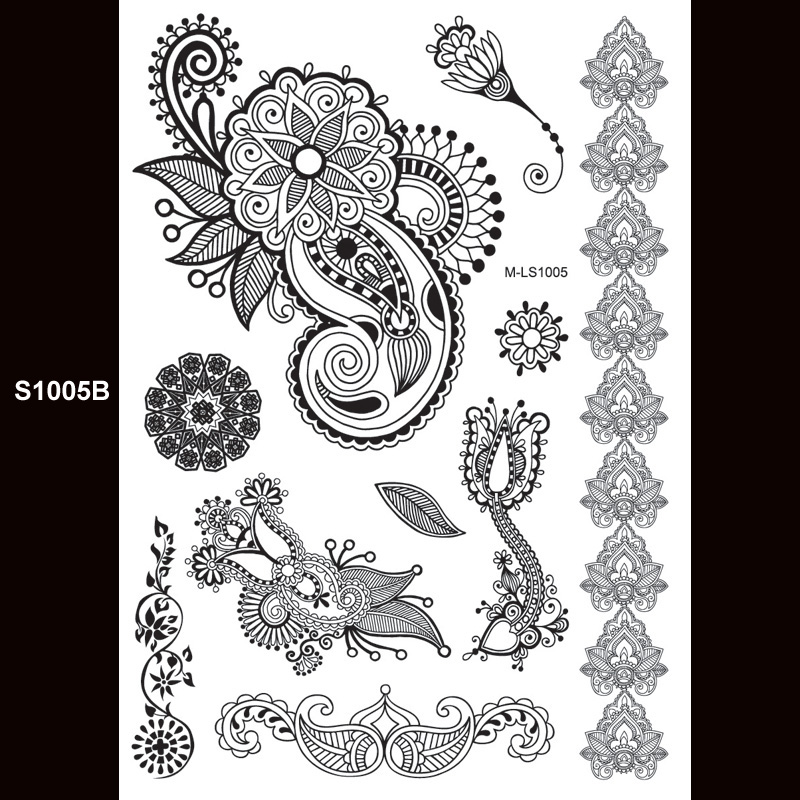 Henna Style Tattoos Lace Tattoo: Aliexpress.com : Buy 1piece Indian Arabic Designs Lace
