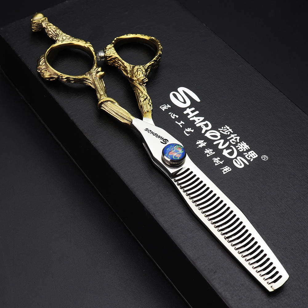 High Quality Barber Shop Scissors Hairdresser Hairdressing Cutting Thining Scissors Japanese Scissors 440C Haircut Scissors Set