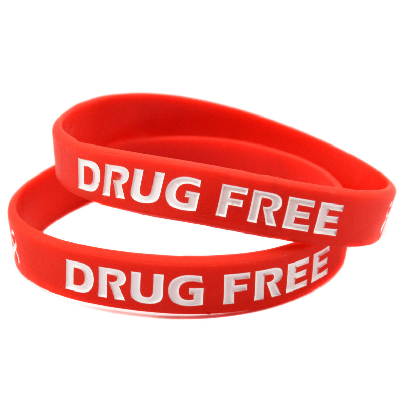 OBH 50PCS Drug Free Bulk Cheap Silicone Bracelet for Charity Activities image