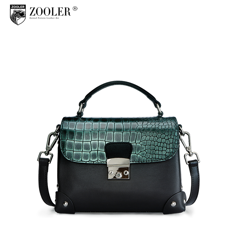 ZOOLER Genuine leather bag cross body bags Handbag High Quality Leather Famous Brands Design Women shoulder BagZ123 ursfur 2017 high quality patent leather women bag ladies cross body messenger shoulder bag handbag famous brands bolsa feminina
