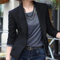 Модные женские пальто тонкий женские офисные блейзер для отдыха Новый одна кнопка пиджак женский Повседневное Бизнес блейзеры костюм