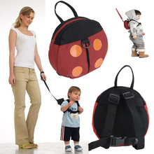 2017 Super Cute Baby Multifunctional Study Walking Belts Lovely Beetles Bats Shape Toddler Anti-Lost Bag BackPack With Long Belt