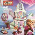 316 Pcs/lot Snow Queen Anna Elsa Building Blocks Cinderella's Romantic Castle Brick Toys for Girls with Legoe Friend