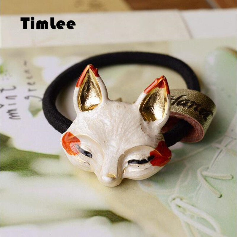 Timlee H033 Nemokamas pristatymas Mielos katės lapės triušių - Mados papuošalai - Nuotrauka 2
