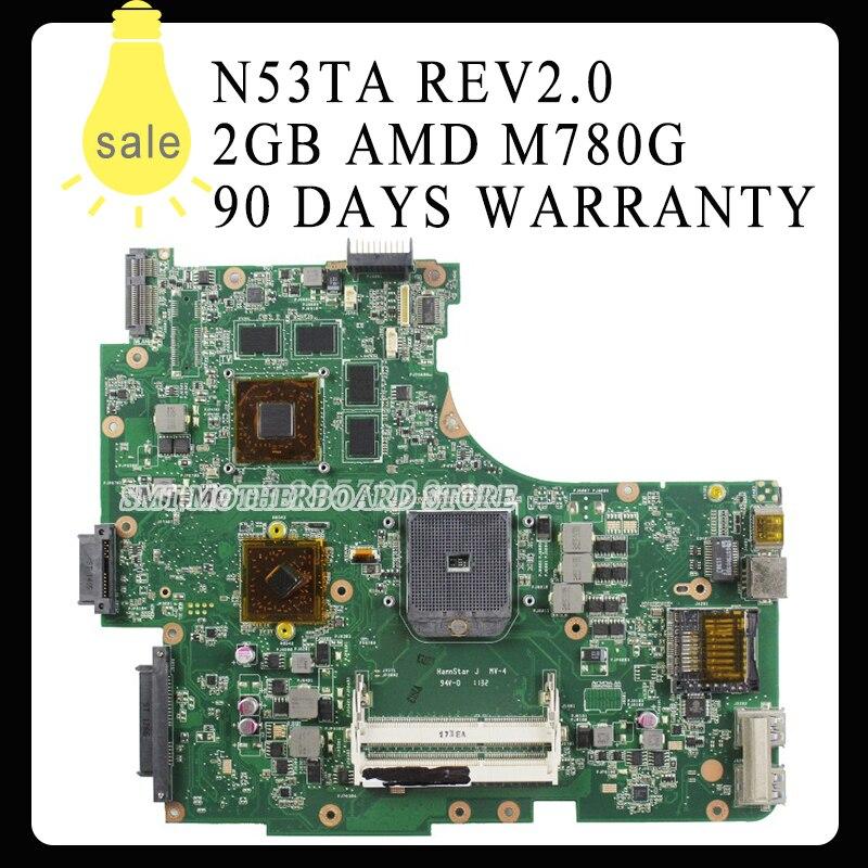 все цены на Wholesale REV:2.0 N53TA N53TK N53T laptop motherboard 2GB USB3.0 216-0810005 SOCKET FS1 M780G 100% DDR3 VRAM Tested онлайн