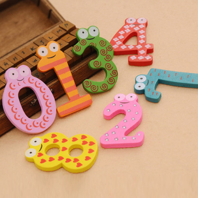 Party Gift Home Decor Multicolor  Wooden Fridge Magnet Educational Toy Symbol Alphabet Numbers  Cartoon Baby Kid  5