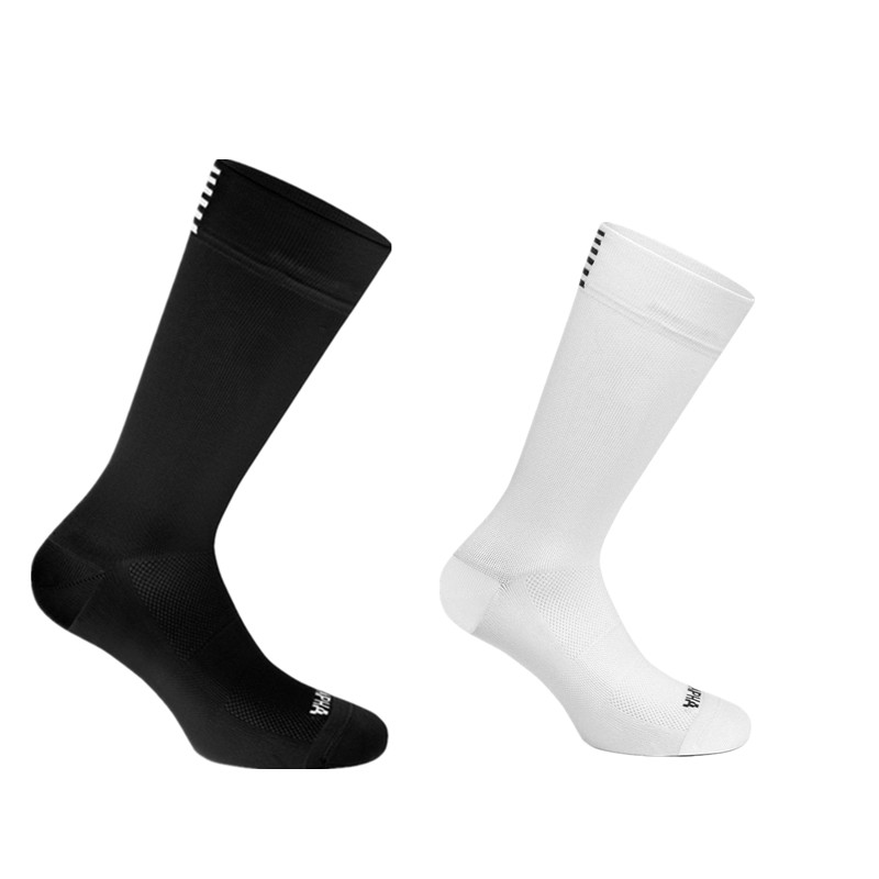 Summer Breathable Black White Cycling Socks Road Bike Socks Bicycle Socks Outdoor Sports Racing