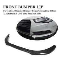 Fit for Audi A5 Carbon Fiber Front Bumper Lip Spoiler Apron Standard Bumper 2 Door 4 Door 2012 2016 Non Sline