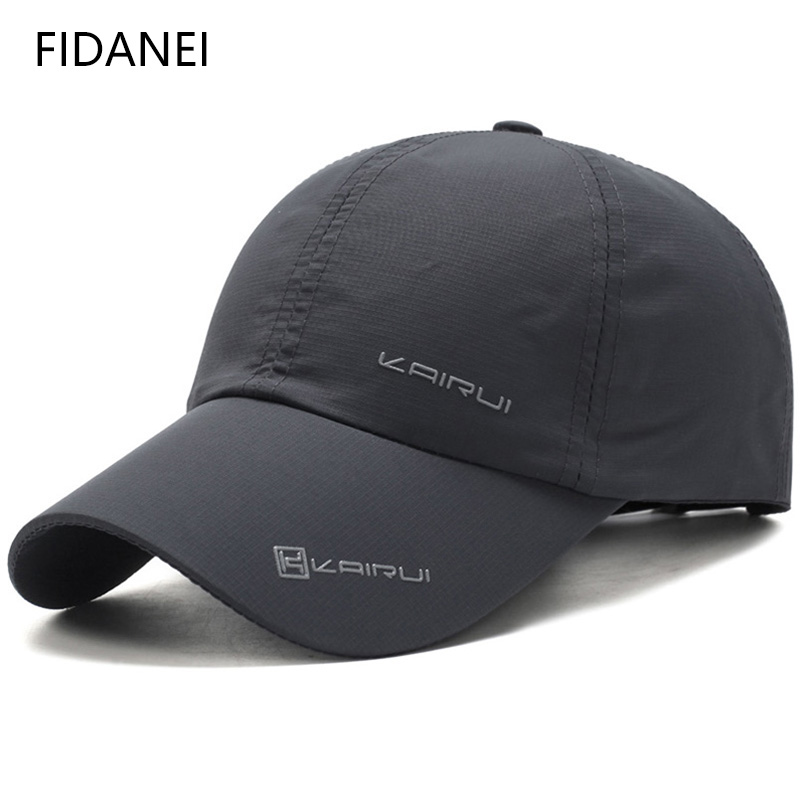 FIDANEI Solid   Baseball     Caps   for Men Casual Style Snapback   Cap   Sports Quick Drying   Cap   MaLe Outdoors Breathable Hats Polyester