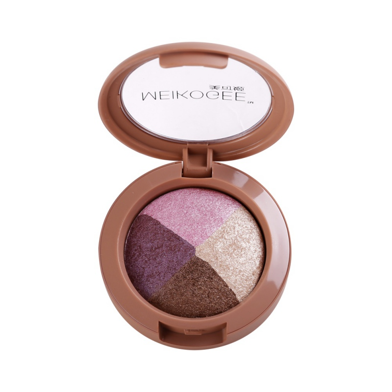 Four - color eye shadow waterproof pearlescent baking eye shadow plate baked eye shadow  ...