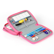Large Capacity 42 Holes Pencil Bags Women Men Art Drawing Multifunction Storage Box Student Stationery 3 Layers Pencilcase Gift