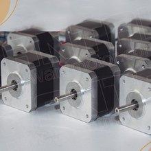 Лидер продаж! Wantai 10 шт. Nema17 шаговый двигатель 42BYGHM810 0,9 градусов 4200g. см 48 мм 2.4A CE по ограничению на использование опасных материалов в производстве ISO 3D-принтеры Makerbot Reprap