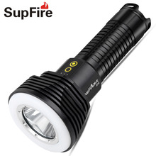 LED Flashlight Torch Flash Light Supfire D10 Linterna Led Lanterna Lampe De Poche for Imalent Nitecore Fenix Work S039