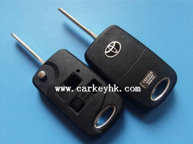 Top quality Toyota modified flip 3 buttons key shell toyota key case