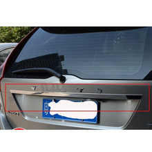Stainless steel Chrome Rear Trunk Lid Cover Trim For 2009 2013 Volvo XC60