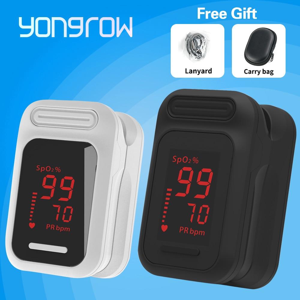Yongrow médica led dedo oxímetro de pulso