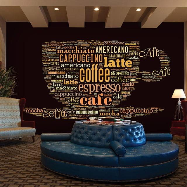 3D Wallpaper Custom Kopi Modern Bahasa Inggris Huruf Mural Cafe Tema Ruang  Makan Fashion Dekorasi Interior cde34c8837